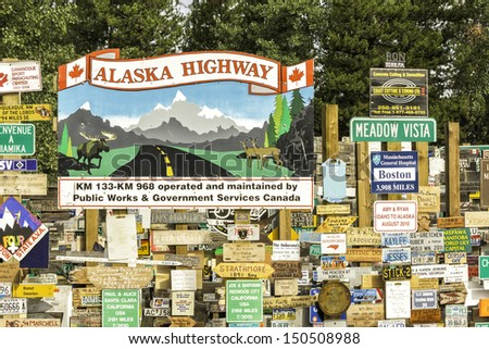 watson lake   july 24   alaska...