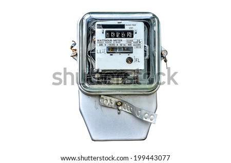 watt hour electric meter stock photo 199443077 shutterstock. Black Bedroom Furniture Sets. Home Design Ideas