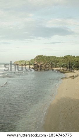 Watu karung is a beautiful beach in pacitan