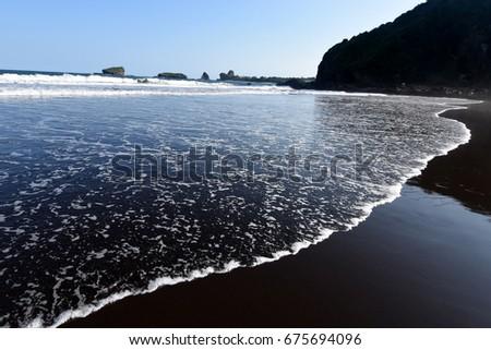Watu ulo beach in Jember, East Java, Indonesia #675694096