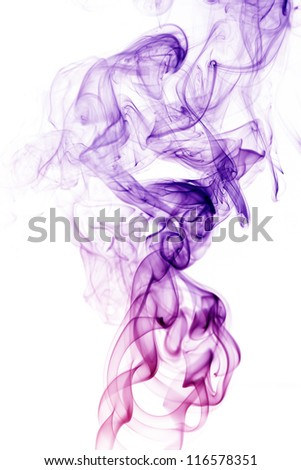wave and smoke of different colors isolated on white
