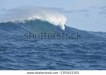Wave Big Wave Surf Hawaii Maui #1392621503