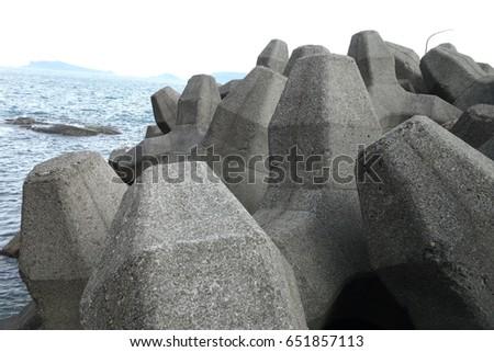 wave block at seaside #651857113