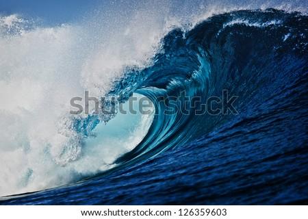 Wave breaking in Indonesia
