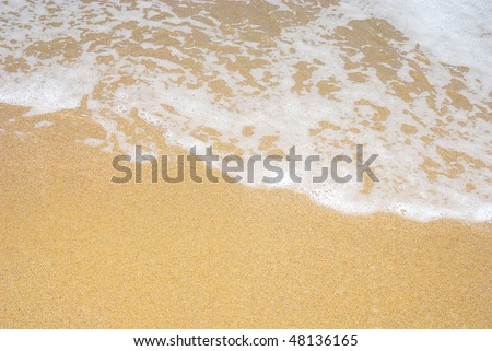 Wave breaking on beach