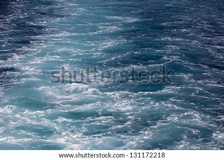 Wave caused by cruise ship