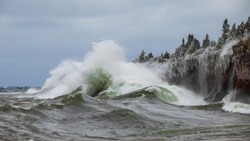 Wave Crash on Lake Superior
