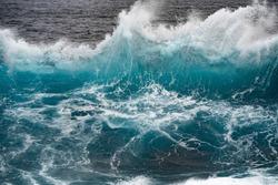Wave crashing in ocean splash