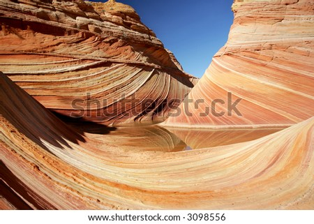 Wave - Famous rock formation in Pariah Canyon, Utah, Vermillion Cliffs MN