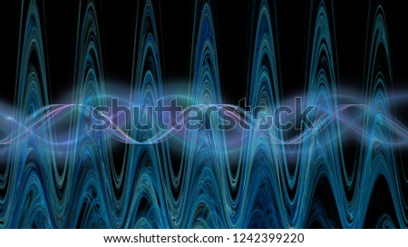 wave illustration, amplitude and frequency
