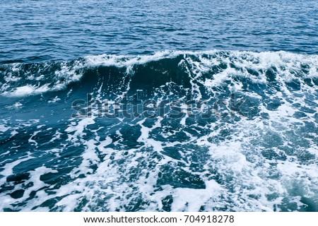 Wave in the sea, Blue sea, Beautiful sea, Blue sea background
