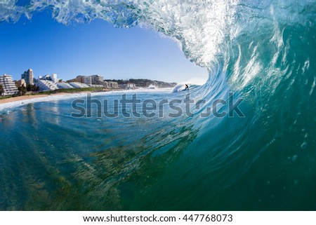 Wave Inside Surfing Ballito Bay Wave inside ocean water swimming surfing action photo Ballito-Bay beach's