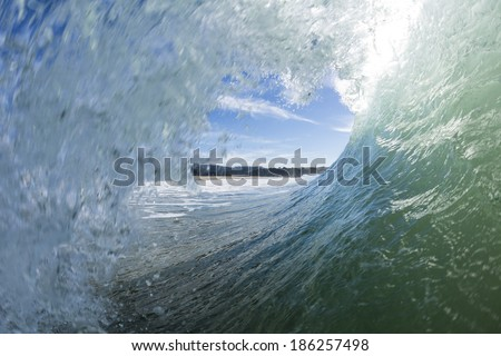 Wave Insides/ the Point of View surfers get when inside a tubing wave