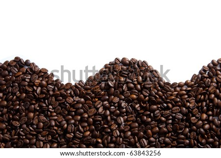 Wave made of coffee beans - stock photo
