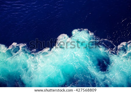 wave ocean water background. #427568809