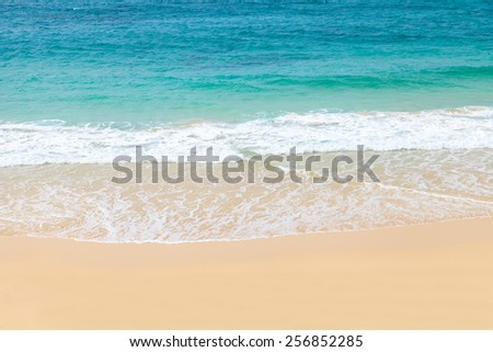 Wave of the sea on the sand beach, Boavista - Cape Verde #256852285