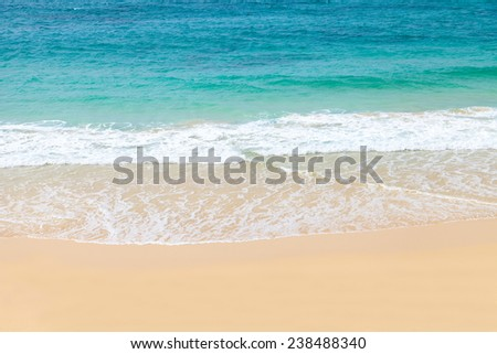 Wave of the sea on the sandy beach, Boavista - Cape Verde #238488340
