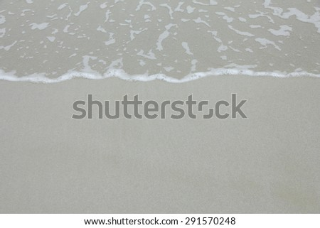Wave of water on clear sandy beach (beach, sand, background) #291570248