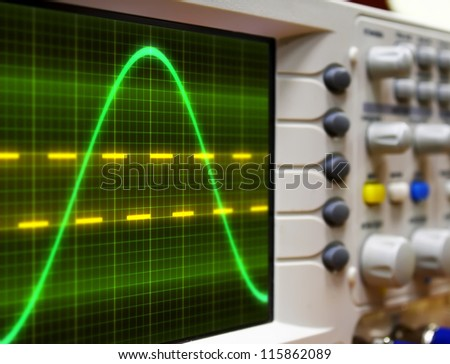wave on oscilloscope #115862089