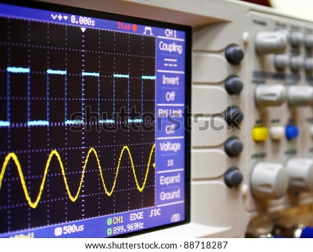 wave on oscilloscope #88718287