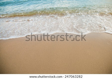 wave on save at the sea #247063282