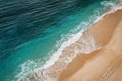 Wave on the Navy Beach (Praia da Marinha), located on the Atlantic coast in Caramujeira, Lagoa Municipality, Algarve.