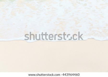 wave on white sand beach,summer holiday  vacation #443964460
