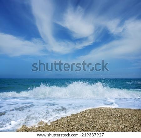 wave pebbles  wave pebbles photo taken on the shore of Alushta Crimea