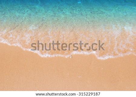 Wave & Sand beach background #315229187