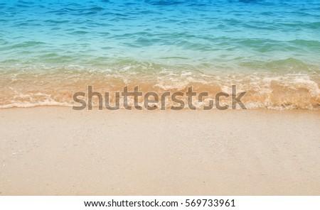 Wave & Sand beach background  #569733961