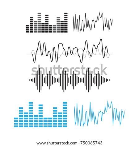 wave sound pattern. Sound waves concept. Sound waves
