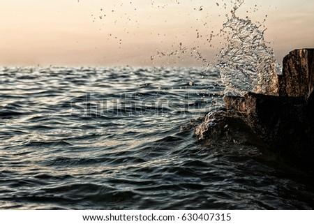 Wave/ Splashing wave  #630407315