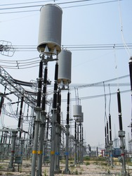 wave trap or Line trap in substation