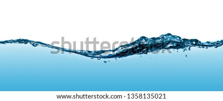 Wave water and bubbles isolated on white background #1358135021
