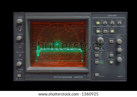 Waveform Monitor - audio vector/waveform monitor idling - clipping path included