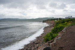 Waves at the Cabot Trail in Cape Breton Highlands National Park, Nova Scotia Canada