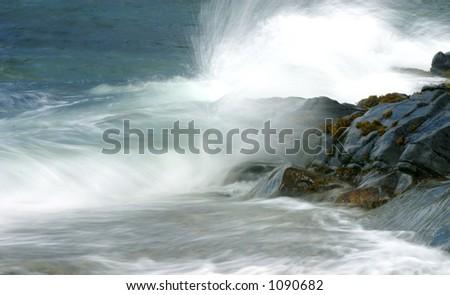 Waves breaking on the atlantic coast