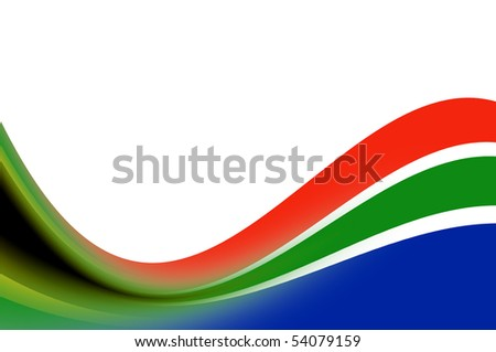 Waves illustration with south africa colors. Illustration