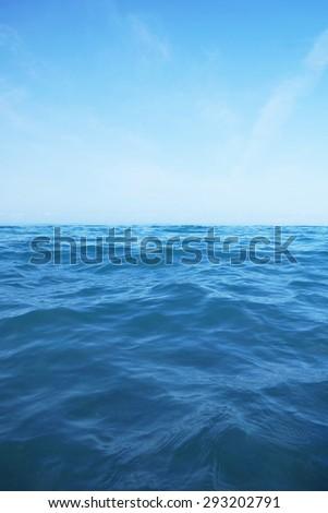 Waves in an open ocean