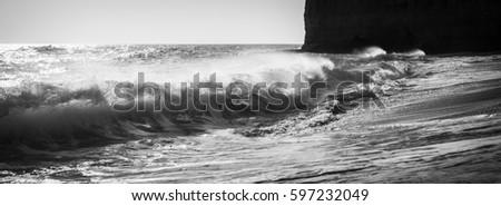 Waves in the Algarve Portugal