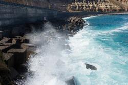 Waves in the Atlantic Ocean, the coast of Gran Canaria