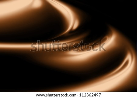 waves of chocolate cream closeup