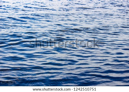 waves on the Caspian Sea, Blue sea background, blue sea wave #1242510751