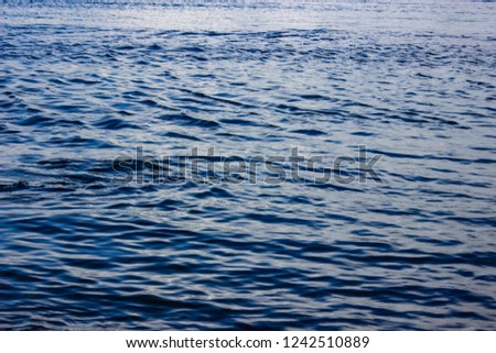 waves on the Caspian Sea, Blue sea background, blue sea wave  #1242510889