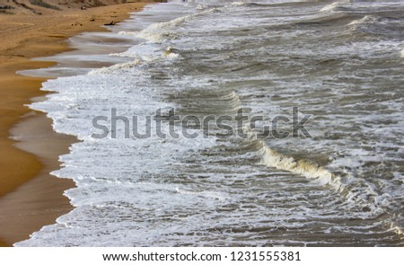 Waves on the Caspian Sea, Waves on the Caspian Sea, Wave washes the seashore, beautiful seashore   #1231555381