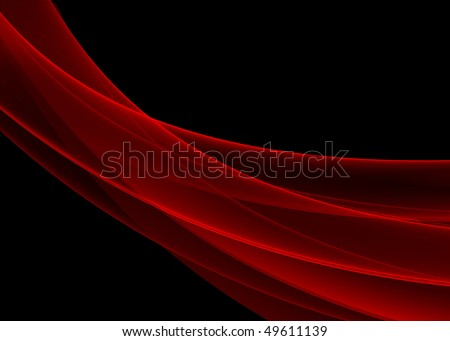 waves red and black background - easy to change colors - see more variations in portfolio - stock photo