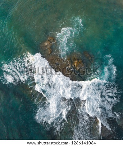 Waves Sea , drone photography #1266141064