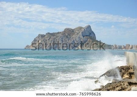 Waves / surf in Calpe, Costa Blanca, Spain #765998626