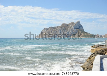 Waves / surf in Calpe, Costa Blanca, Spain #765998770