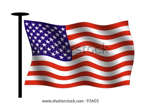 Gallery For > Waving American Flag Outline  Waving American Flag Outline